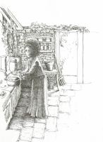 Maisie in the kitchen